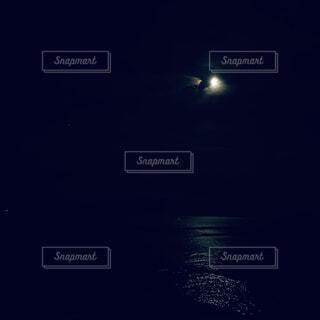 自然,風景,海,夜,夜空,暗い,月