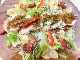 食べ物,野菜,サラダ,ベーコン,魚介類,ファストフード,サラダチキン,自家製とりハム