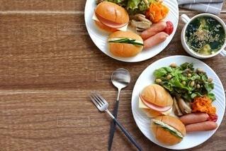 ワンプレート朝食の写真・画像素材[4612733]
