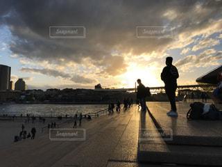 空,太陽,雲,夕陽,シドニー,Sydney