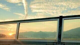 空,夕日,雲,夕焼け,夕暮れ,夕陽,sunset,田園風景