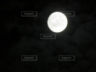 自然,空,暗い,月,満月,月夜
