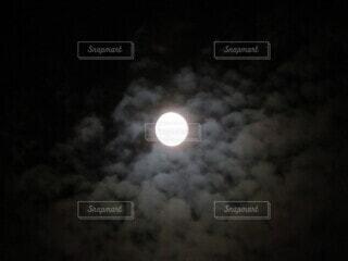 空,雲,暗い,月,月夜