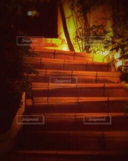 夜にライトアップされた入口の写真・画像素材[4455361]
