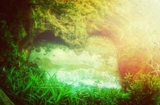 洞穴と波・画像素材の写真・画像素材[4530445]