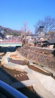 有馬川と有馬温泉街の写真・画像素材[4523605]