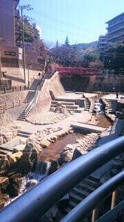 有馬川とねねの橋の写真・画像素材[4523604]