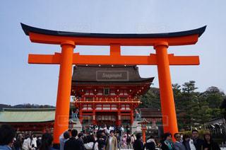 京都,観光,伏見稲荷大社,朱色