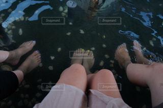 北海道で足湯への写真・画像素材[1022384]