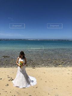 真夏の花嫁の写真・画像素材[2166031]