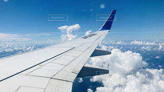 飛行機からの景色の写真・画像素材[4455213]