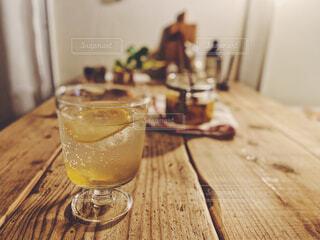 ジンジャーレモンシロップでおうちカフェの写真・画像素材[4580503]