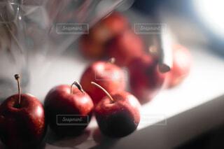 リンゴのクローズアップの写真・画像素材[4466356]