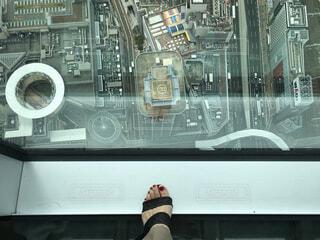 ネイル,足,景色,展望台,脚,高所,高所恐怖症