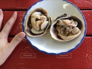 食べ物,赤,手,皿,貝,魚介類,知多半島,浜焼き,大あさり,肉厚,師崎,ウチムラサキ