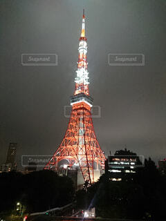 夜の東京タワーの写真・画像素材[4495319]