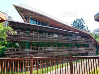 木造建築が美しい台湾の北投図書館の写真・画像素材[4526715]