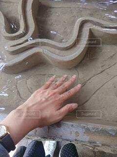 足湯ならぬ手湯/台湾の北投温泉の写真・画像素材[4565294]