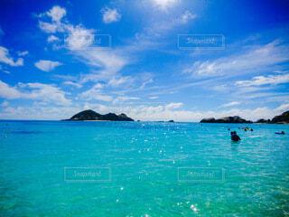 渡嘉敷島の海の写真・画像素材[4644762]