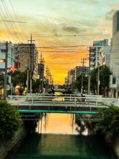 沖縄の夏の夕暮れの写真・画像素材[4655799]