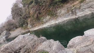 自然,屋外,湖,川,水面,山,岩,洞窟