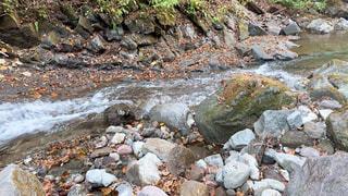 自然,屋外,川,水面,山,岩