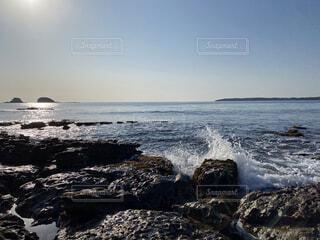 自然,風景,海,空,屋外,ビーチ,雲,水面,海岸,山,岩