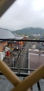 空,京都,駅,電車,隙間,覗く,雅