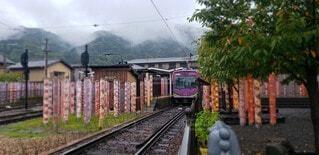 空,屋外,京都,駅,電車,樹木,鉄道,雅
