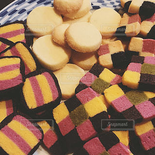秋,屋内,カラフル,鮮やか,クッキー,手作り,芋,食欲,カボチャ,秋色,ブロッククッキー
