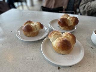 食べ物,ランチ,パン,テーブル,レストラン,おいしい,3つ,ブリオッシュ,パン酵母