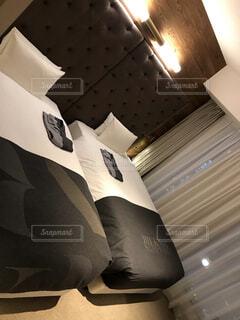建物,屋内,壁,枕,ホテル,ベッド