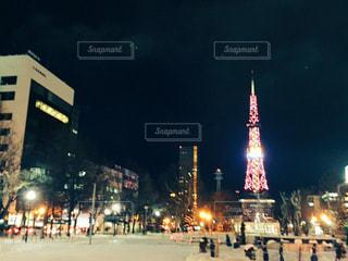 風景,夜景,北海道,外,キラキラ,札幌,大通公園,テレビ塔,わたしの街