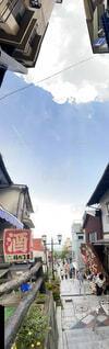空,建物,屋外,雲,窓,家,パノラマ,日中,テキスト