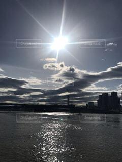 雲,青,日光,ランニング,湾岸,晴海埠頭,日中,湾岸エリア