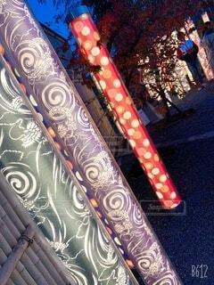 冬,カップル,屋外,京都,綺麗,反射,イルミネーション,ライトアップ,嵐山,装飾,明るい,デート,電飾,テキスト