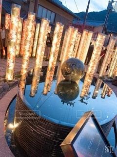 冬,カップル,京都,綺麗,反射,イルミネーション,ライトアップ,嵐山,装飾,明るい,デート,電飾