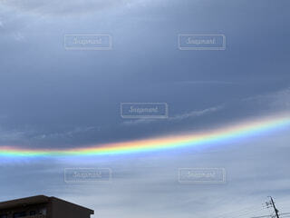 自然,風景,空,屋外,雲,青空,虹,なないろ