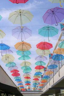 傘,屋外,晴天,テント,カラー
