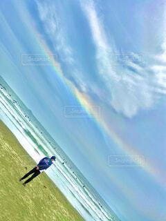 ビーチ,虹,江ノ島,環水平アーク