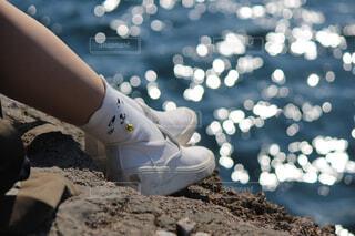 女性,猫,海,海岸,人物,人,靴下