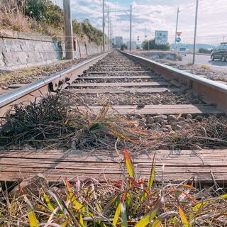 屋外,線路,地面,鉄道,木目,レール
