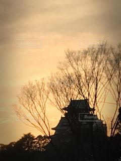 空,大阪城,歴史,夕空,hinakunmama,ライブ前,大阪城ホールより