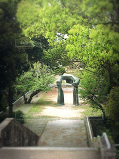 新緑,アーチ,平和,hinakunmama,広島市現代美術館,比治山公園,ヘンリームーア,屋外展示作品,桜のあとに