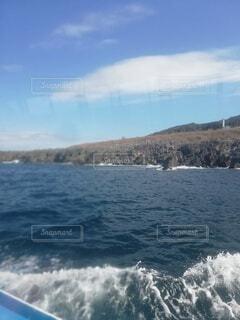自然,海,空,屋外,湖,ビーチ,雲,ボート,波,船,水面,山,東尋坊