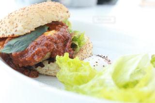 加賀片山津温泉総湯のカフェで食べれるご当地バーガーの写真・画像素材[1015028]