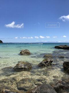 自然,風景,海,空,屋外,ビーチ,雲,島,水面,海岸,岩,旅行,日中