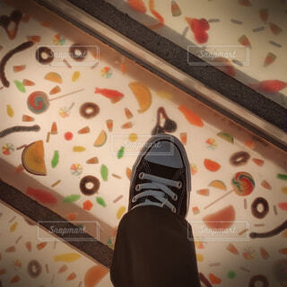 お菓子の階段の写真・画像素材[4481110]