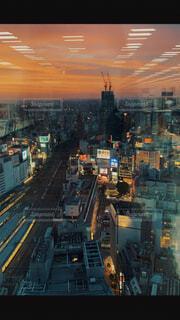 空,建物,屋外,夕焼け,都市,タワー,都会,高層ビル