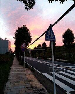空,屋外,雲,樹木,通り